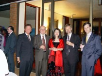 After the recital at the German Embassador