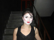 In Mumbai, India, in make up for la Cugina in a production of Madama Butterfly