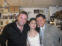 Lola G. with international opera stars Vittorio Grigolo and Joseph Calleja